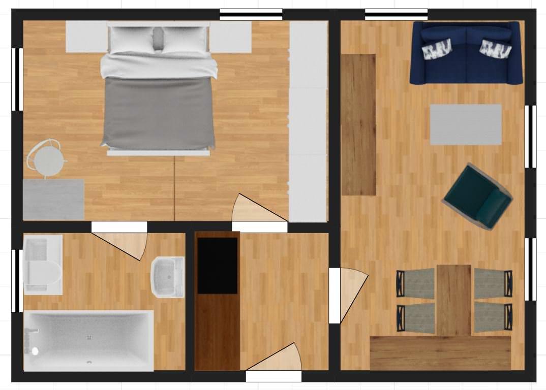 "Grundriss Apartment ""Hansestadt"""